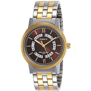 Timex Analog Brown Dial Mens Watch-TW000T129
