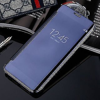new product cab56 bf9ba SK Samsung Galaxy S9 Plus Flip Cover Mirror View Case ( BLUE