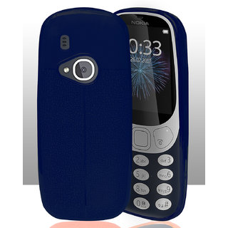 ECellStreet Case with SF Coated Non Slip Matte Surface and Excellent Grip for Nokia 3310 - Dark Blue