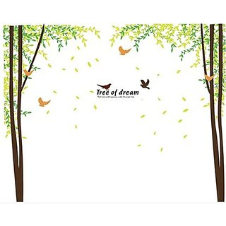 Sitting Room The Bedroom Green Dream Tree Wall Stickers - Multicolor