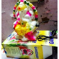 SHRI GANESHA STATUE WITH LIGHT AND 26 AARTI  TO CREATE POSITIVE VIBES