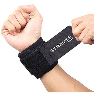 Strauss Wrist Support Free Size (Black)