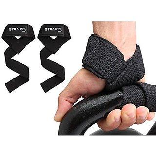 61c74902f76 Buy Strauss PT Cotton Gym Support Pair (Black) Online - Get 8% Off