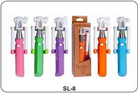 Signature SL-8 Mini Selfie Stick Velvet Handle - Assorted Colors
