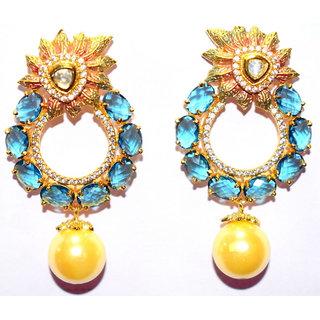 Profusion Fashions Blue Dangle  Drop Earrings For Women