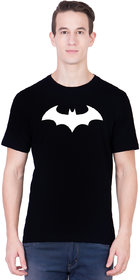 ANDSHAND Men's Batman Cotton Half Sleeve Printed T-Shirt (BlackLarge)