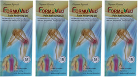Formuved Pain Relieving Oil for Back, Neck, Shoulder, Leg, Knee and Sciatica Pain Pack of 4 (100 ml Each)