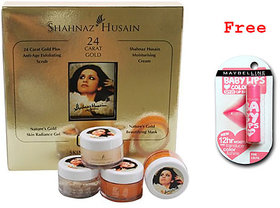 shahnaj hussain gold facial kit plus free pink baby lips