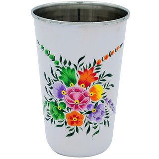 The Crazy Me White Colorful Pattern  Utensil Tumbler (Large)