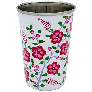 The Crazy Me  Blossom Flower Pink Pattern  Utensil Tumbler (Large)