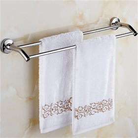 INDISWAN Stainless Steel 24-Inch Double Rod Towel Holder