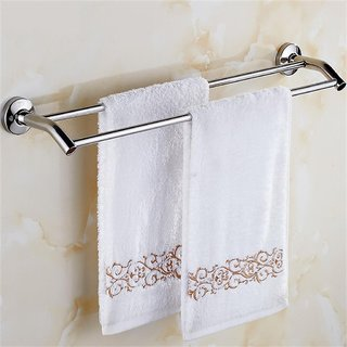 INDISWAN Stainless Steel 24 Inch Double Rod Towel Holder
