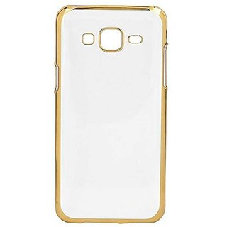 Samsung Galaxy J5 Electroplated Golden Chrome Soft TPU Back Cover