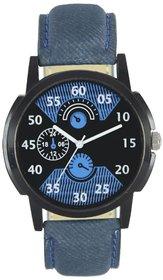 AJ NEW Stylish New Denim Look Analog Leather Belt Watch