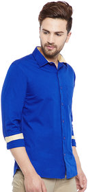 RedCrepe Men's Blue Casual Shirt