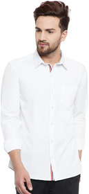 RedCrepe Men's White Casual Shirt