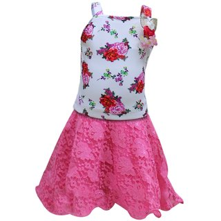 Tumble Sleeveless Floral Print Top and Skirt Set - Pink