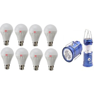 Alpha 7 Watt Pack of 8 Bulb (one year replacement warrant) With Free Solar Rechargeable Lantern