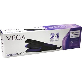 Vega VHSC 01 2 in 1 Straightener and Curler Hair Straightener (Black Violet)