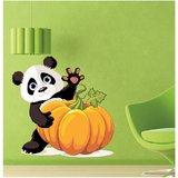 EJA Art Pumpkin Panda Mulitcolor Removable Decor Mural Wall Stickers Sticker Mural Wall Stickers Sticker