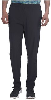 Adidas Black Polyester Lycra Trackpants For Men's