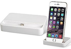 Lighting Dock Stand Charging For Apple iPhone 5 5s 6 6S 7 8 - White