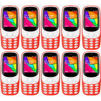 Combo Of 10 IKall K35 Red Dual Sim 2.4 Inch 1800mAh Bat