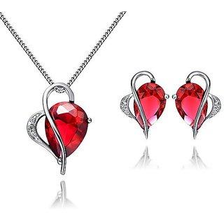 RM Jewellers 92.5 Sterling Silver American Diamond Stylish Pendant Set For Women ( RMJPS88883 )