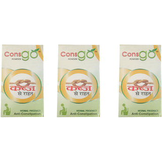 Consgo Powder Anti-Constipation pure Herbal (Pack of 3) (NERR)