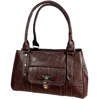 ALL DAY 365 Brown Plain Shoulder Bag