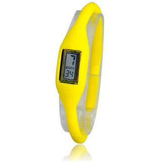Trendy Sports Type Silicon Watches For Both Men And Women(Unisex) Yellow Color