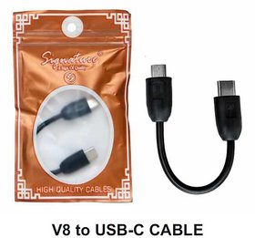 Signature V8 (Micro USB) to Type C Cable (Black)
