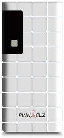 Pinnaclz (Choc-PB-8-10.4k WHT) 10000mAh Powerbank with 3 USB Output Port, LED Indicator and Torchlight - White