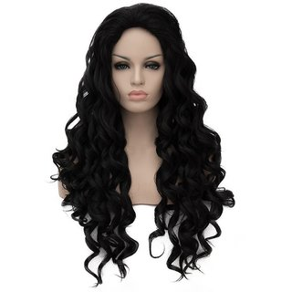 NERR Human Hair Wigs For Women Curly Hair Human Wig Natural Black Colour