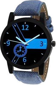 Timebre Men Blue Denim Analog Watch 6 Month Warranty