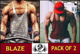 The Blazze Gym Tank Stringer For Men Pack Of Two