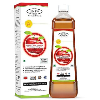Sinew Nutrition Raw Apple Cider Vinegar (Unfiltered  Unpasteurised) with strands of Mother 750ml