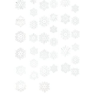 Snowflake String Christmas Decoration pack of 6 strings