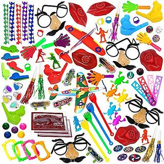 Party Favor Toy Assortment Pack of 100 Pc Includes a Wide Range of Mid-size and Small Toys Small Prizes for Party Favor Bags School Classrooms and Carnivals (Exclusively Sold By: Smart Novelty)