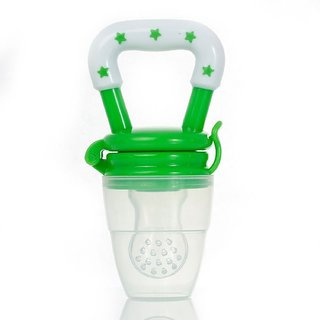 Silicone Baby Food/ Fruit Feeder/ Baby Teether/ Baby Soother (Green)