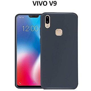 100% authentic 6e1e4 9abd1 Vivo V9 Back Cover Rubberised Matte Soft Silicone TPU Flexible Blue Back  Cover For Vivo V9 - Vivo V9 Back Cover Case