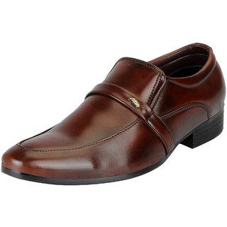 Fausto Men's Brown Formal Slip On Shoes