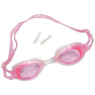 Neska Moda Unisex Anti Fog and UV Protected Pink Swimming Kit With Earplugs  Swim08