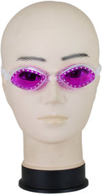 Neska Moda Unisex Antifog And UV Protected Purple Swimming Kit Swim38