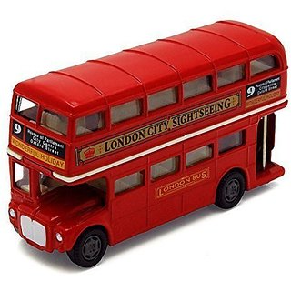 "London Double Decker Bus  Red Motormax 76002 4.75"" Diecast Model Toy Car"