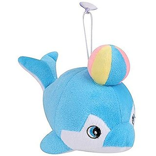Satnam Global Blue Dolphin With Ball Stuffed Soft Plush Toy Love 30 CM