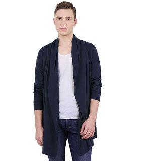 PAUSE Blue  Solid Cotton Round Neck Regular Full Sleeve Men's Cardigan