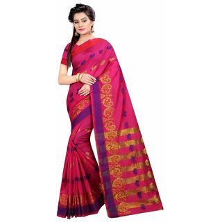 Greenvilla DesignsPink Polycotton Saree