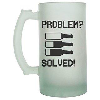 Problem  Solved Frosted beer Mug