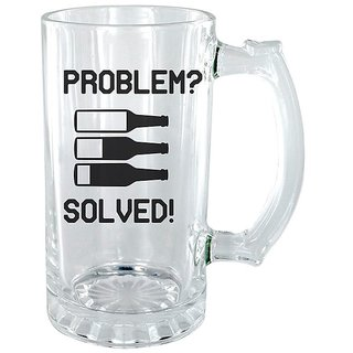 Problem  Solved Clear beer Mug